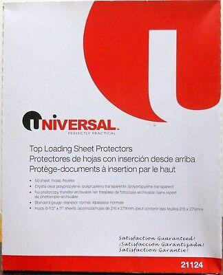 Universal Standard Gauge Sheet Protectors 100cnt 3hole Top-loading 21124 2x50