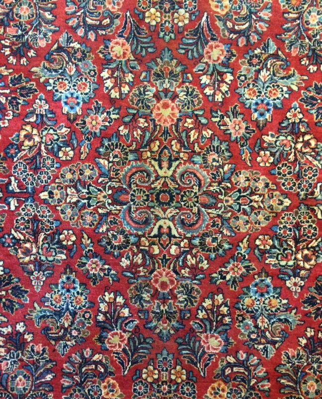 Sensational Sarouk - 1920s Antique Persian Rug - Floral Carpet - 8 X 10.2 Ft.