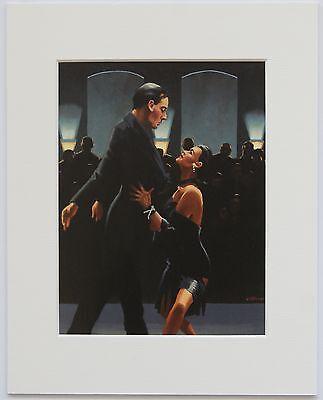 """Rumba In Black by Jack Vettriano Mounted Art Print 10"""" x 8"""" Dancers"""