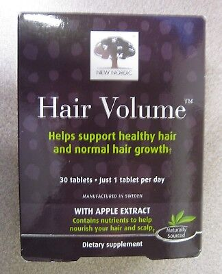 (NEW Nordic Hair Volume - Apple Extract Nourish Hair Scalp Growth 30 Tablets)