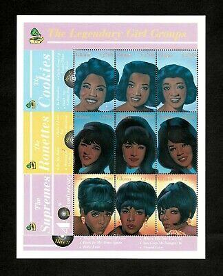 Ghana 2001 - SC# 2240 - The Supremes, Girl Groups 60s - Sheet of 9 Stamps - MNH