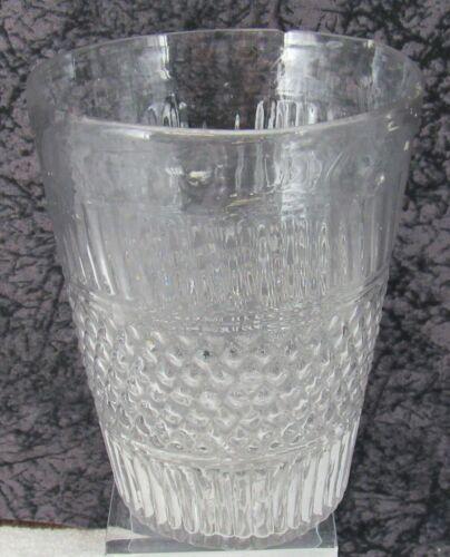 "Antique Boston & Sandwich Diamond Diaper Blown Mold 5 3/4"" Tumbler Flip Cup"