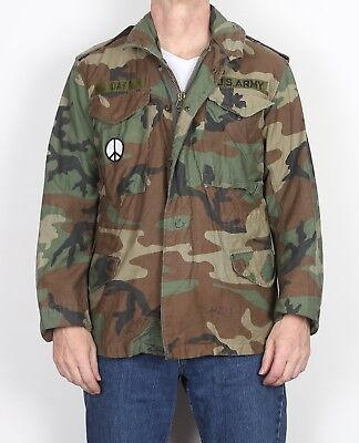 """M65 US Army Field Jacket Small Short 36"""" 38"""" Green CAMO Camouflage (T8AD) for sale  Shipping to Ireland"""