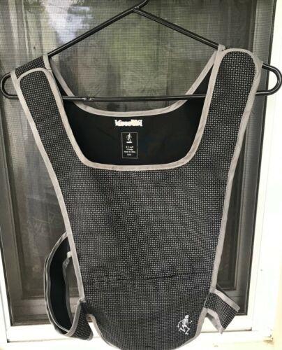 R U seeN V-Snake Reflective Running Vest Adult One Size Adjustable Black Gray