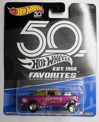 Hot Wheels 2018 50th Anniversary Favorites B Case