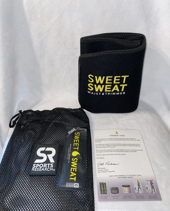 Sweet Sweat waist trimmer LARGE for men & woman includes Sample Of Sweat Gel
