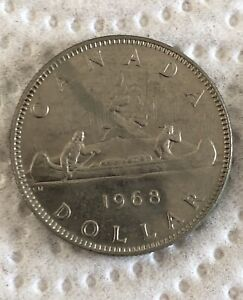 1968 Canada 1$ Dollar Coin - 6 available