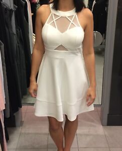 White high collar dress