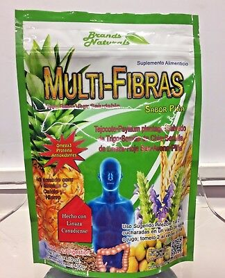 Brands Naturals Multi Fibra Sabor Pina Omega 3 Linaza Canadiense Tejote Psyllium
