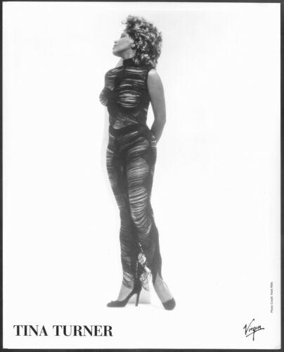 ~ Tina Turner Original Virgin Records Promo Portrait Photo R&B Pop Soul Rock