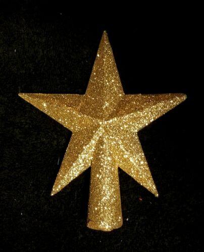 Miniature Gold Glittered Christmas Star Tree Topper