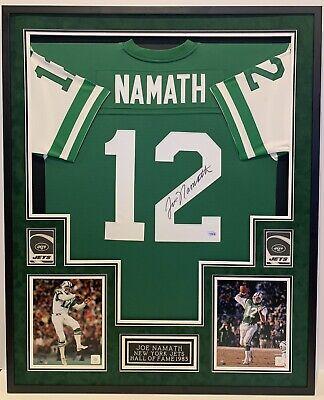 02df03d9 JOE NAMATH NEW YORK JETS #12, AUTOGRAPHED FRAMED JERSEY, FANATICS