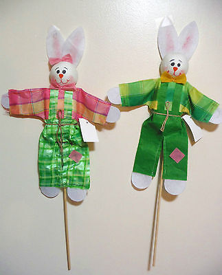 easter bunny stakes pair 2 easter yard