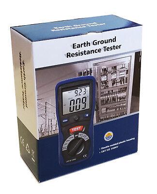 Cem Dt-5300 Digital Earth Ground Resistance Tester Ohm Dc Ac Volt Meter W Bag