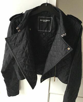 ILSE JACOBSEN HORNBAEK Black Quilted Women's Jacket / Coat UK 10 / 12 Medium