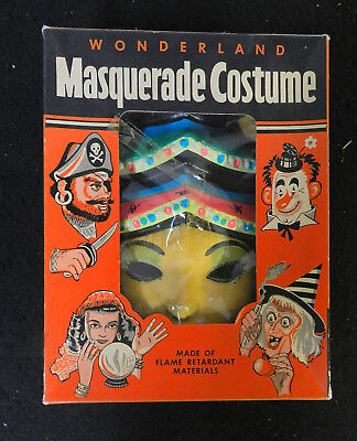 1960's WONDERLAND CHINA DOLL MASQUERADE HALLOWEEN COSTUME COMPLETE in BOX