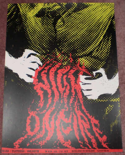 High On Fire 2007 Vancouver BC Canada Poster Screen Print Jon Smith Rare Limited