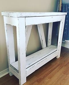 Distressed Console Table - brand new (SOLD PENDING PICK UP)