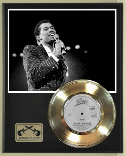 "Luther Vandross ""A House Is Not A Home"" Record Display Wood Plaque"