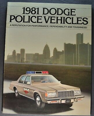 1981 Dodge Police Car Brochure St. Regis Diplomat Ram Van Excellent Original 81