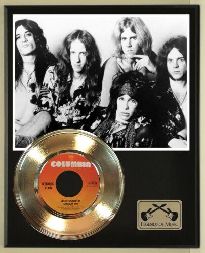 "Aerosmith ""Dream On "" Record Display Wood Plaque"