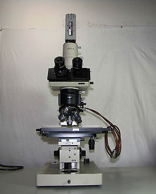 Olympus Bhmjl Series Microscope Trinocular Head With Mtv-3 Sonny Ccd Camera