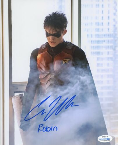 Curran Walters Red Hood Titans Autographed Signed 8x10 Photo COA
