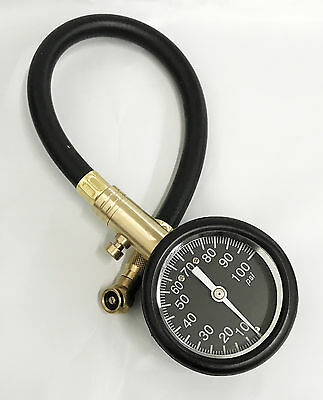 Truck Auto Vehicle Car Tyre Tire Air Pressure Gauge 10 100Psi Tester New