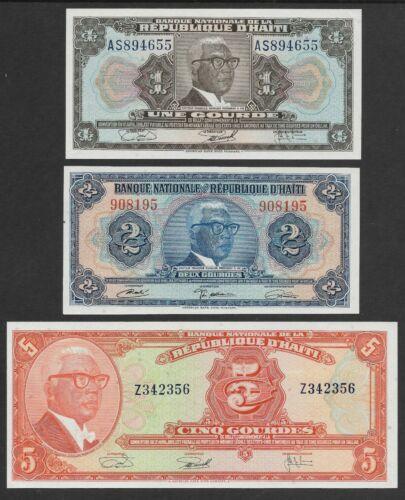 Haiti  Pk-200a, 201, 202a 1971 1, 2, 5 Gorde Set