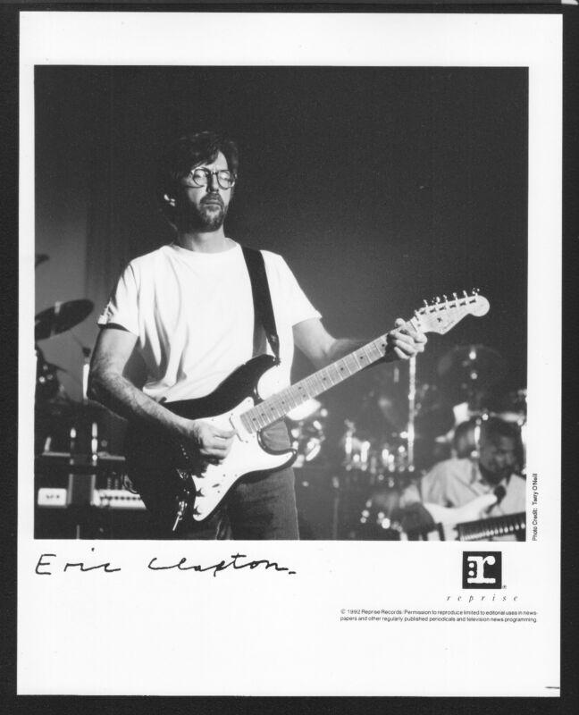 VINTAGE ORIGINAL Ltd Edition Promo Photo 8x10 Eric Clapton a 1992