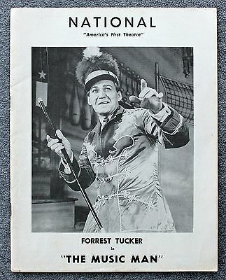 1961 NATIONAL THEATRE PROGRAM Washington DC The Music Man FORREST TUCKER