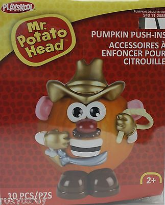 Halloween Mr Potato Head Pumpkin Push In Cowboy Costume 10 Parts NIB](Halloween Part 10)