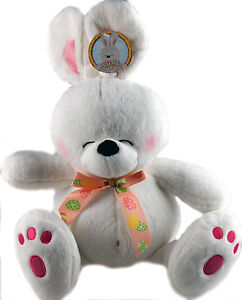 Large 38 cm White Easter Bunny Soft Plush Cuddly Toy - Forever Friends Style