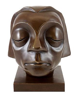 Bronze Bar (Bronzefigur - Kopf vom Güstrower Ehrenmal - signiert. E. Barlach)