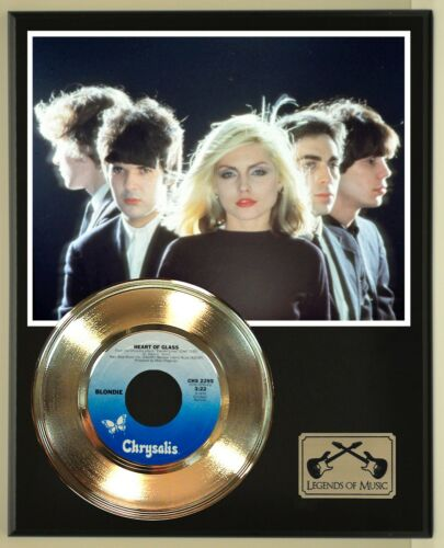 """Blondie """"Heart Of Glass"""" Record Display Wood Plaque"""