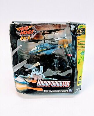 Air Hogs Sharp Shooter Helicoptero Sport Quad Missile Launcher Helicopter Blue segunda mano  Embacar hacia Mexico
