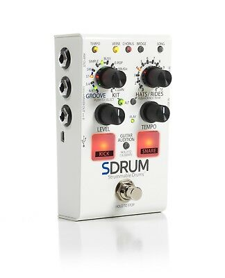 Digitech SDrum Strummable Drums Guitar Pedal! w/ Power Supply S Drum