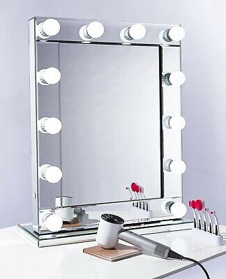 Touch Screen Hollywood Light Up Vanity Mirror with Dimmable LED Bulbs +USB Ports
