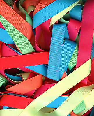 Neon Grosgrain Ribbon - 2 yards each 6 colors 4 sizes 1-1/2,7/8,5/8, 3