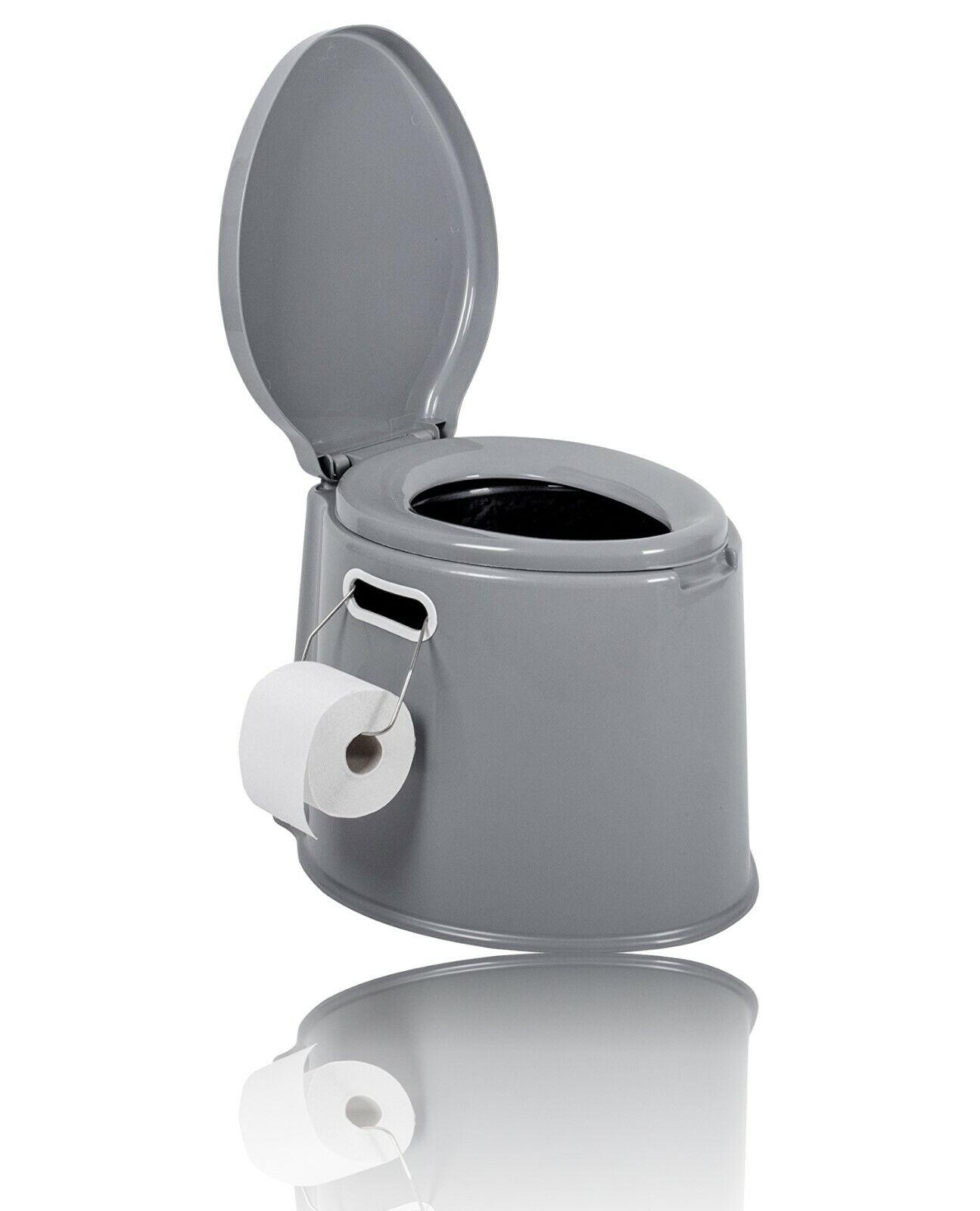 WC Reise Eimer Toilette Campingtoilette für Mobilehome Toiletteneimer [ Grau ]