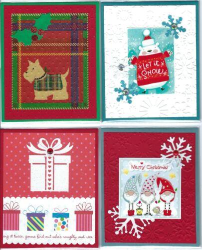 Handmade CHRISTMAS GIFT CARD/MONEY HOLDERS #C$-3--Lot of 4