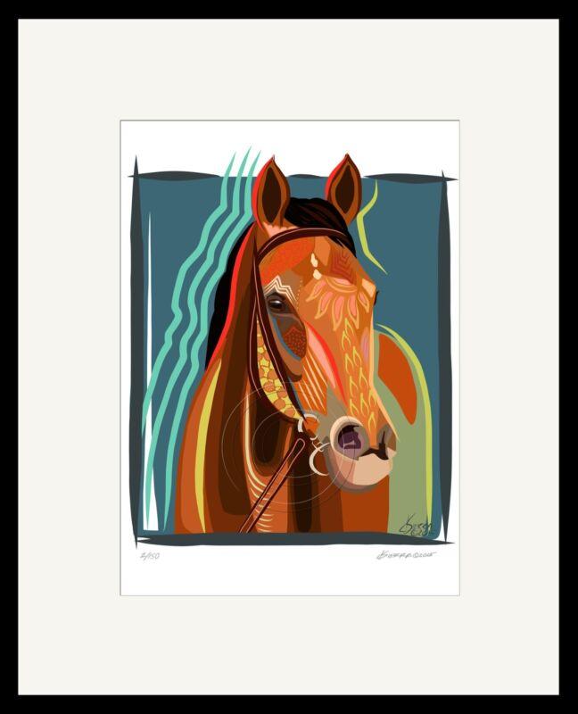 BEHOLDER Thoroughbred Horse ArtIst  Print Signed Numbered Equine Art SFASTUDIO