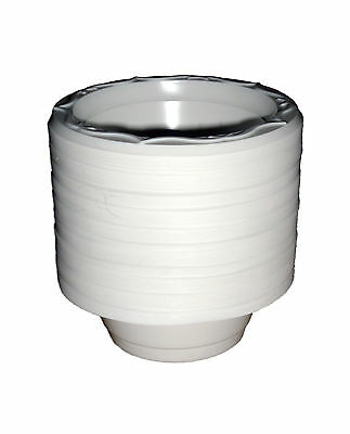 12 Oz White Plastic Bowl - 12oz White Disposable Plastic Dessert Bowls x 50