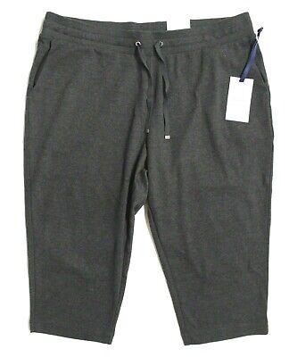Knit Fleece-hose (Women's PETITE Croft & Barrow Knit Capri Fleece Pants - Night Heather Gray)