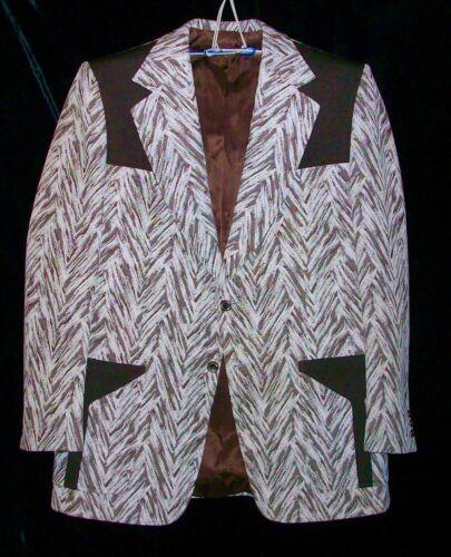 Jacques Dupre Vintage 50s 60s Rockabilly Western Nashville Show Sport Coat 46L