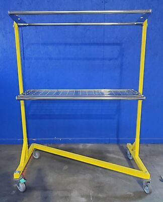 Irsg Dhr-550g-s Garment Clothing Z Rack Commercial Dual Hang Rail W 5 Casters