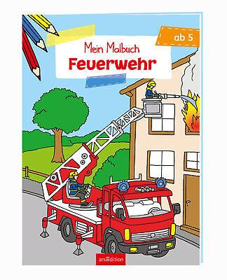 Malbuch ab 5 Jahren - Feuerwehr  Malbuch ab 5