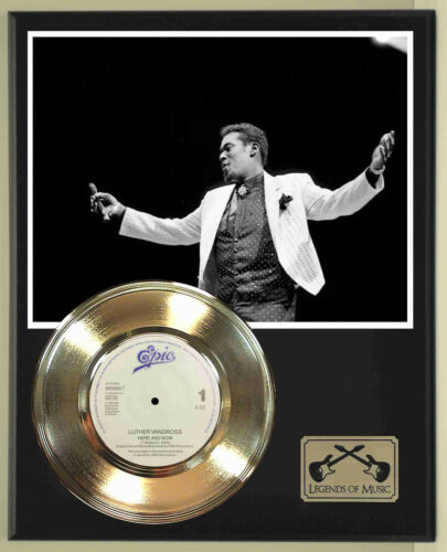 "Luther Vandross ""Here And Now"" Record Display Wood Plaque"