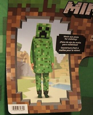 Kids Creeper Costume (MINECRAFT CREEPER Child Small (4-6) Costume Kids Video Game Disguise Foam)