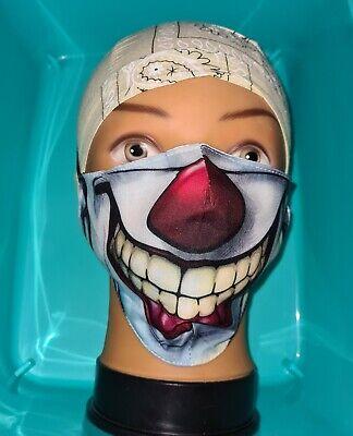 Maske Mund-Nasen-Schutz Behelfsmaske⭐Grinse lachender Clown Joker⭐waschbar⭐Neu